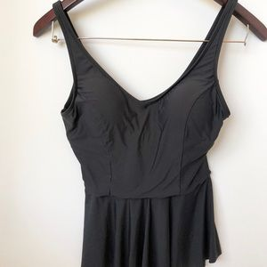 Sea Angel Black Peplum Tankini Top • Size Large